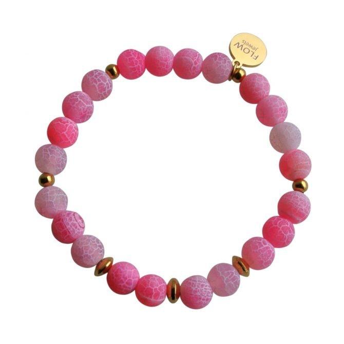 FlowJewels armband goud fel roze