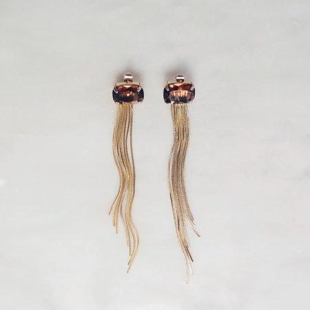 Gold plated earrings Haeli