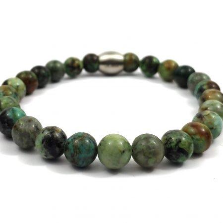 Nane Afrikaans Turkoois,,heren Armband,mannen Armband,natuursteen,groen,turquoise,byjulian